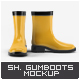 Short Ankle Gumboots Mock-Up - GraphicRiver Item for Sale