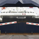 Norwegian car ferry landing at port. Open barrier. Horizontal - PhotoDune Item for Sale