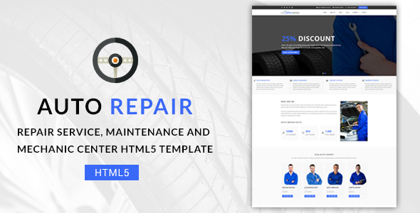 Image of Auto Repair - Maintenance and Mechanic Center HTML5 Template
