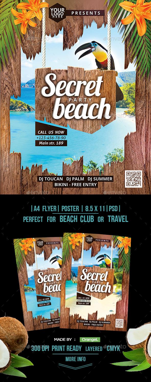GraphicRiver Secret Beach A4 Flyer 20466493