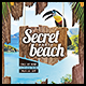 Secret Beach A4 Flyer - GraphicRiver Item for Sale