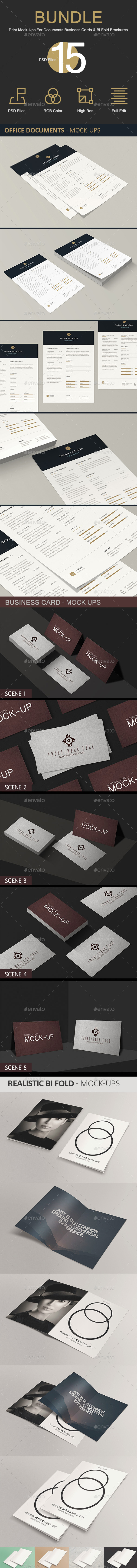 GraphicRiver Print Bundle Mock-Ups 20491920