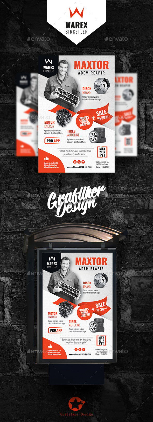 Auto Part Poster Templates - Signage Print Templates