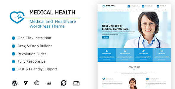 MedicalHealth - Medical, Clinic, Healthcare WordPress Theme