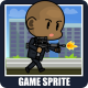 The Hitman 2D Game Character Sprite