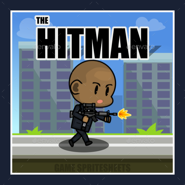 The Hitman 2d Game Character Sprite By Arls Artwork Graphicriver