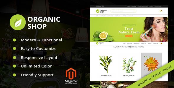 Organic Shop - Responsive Magento2 Theme