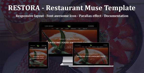 RESTORA - Restaurant Responsive Muse Template