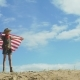 Boy Waving Big American Flag - VideoHive Item for Sale