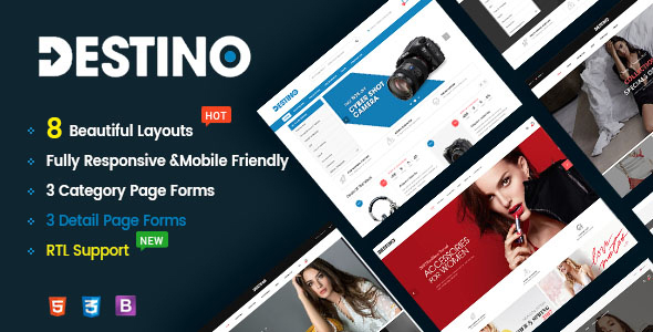 Destino - Responsive & Multi-Purpose HTML5 Template