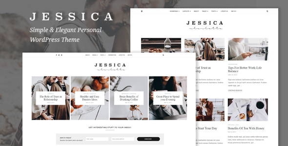 Jessica - Simple & Elegant Personal WordPress Theme