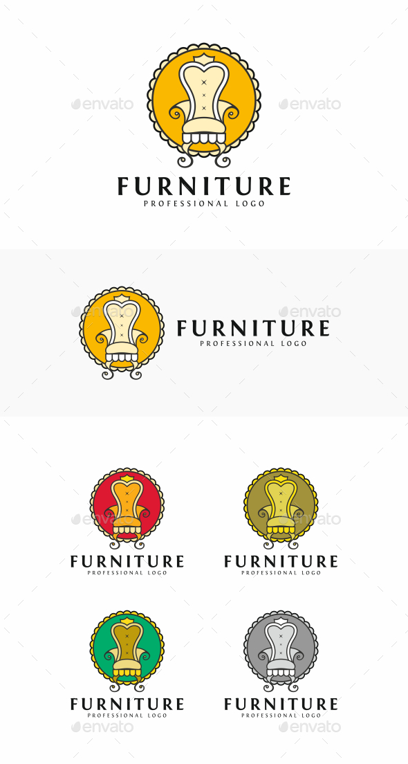 Chair - Objects Logo Templates