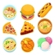 Vector - Dishes Food Dessert and Meal Tasty - GraphicRiver Item for Sale