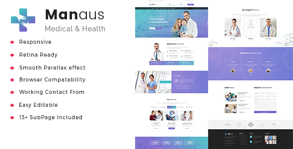 Manaus - Health And Medical HTML Template