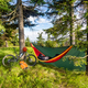 Camping with hammock  in summer woods on bike travel - PhotoDune Item for Sale