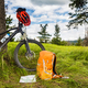 Mountain biking equipment in the woods, bikepacking - PhotoDune Item for Sale