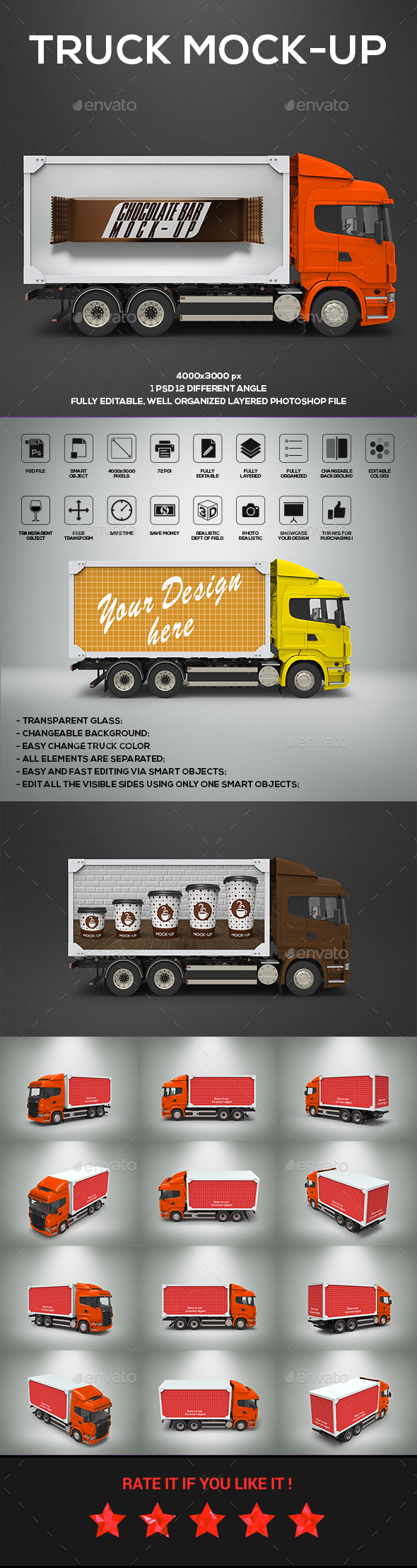 GraphicRiver Truck Mock-Up 20492413