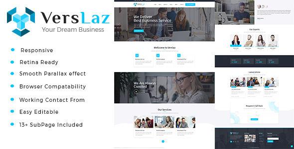 Image of Verslaz - Business Consulting and Professional Services HTML Template