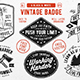 6 Hipster Vintage Badges