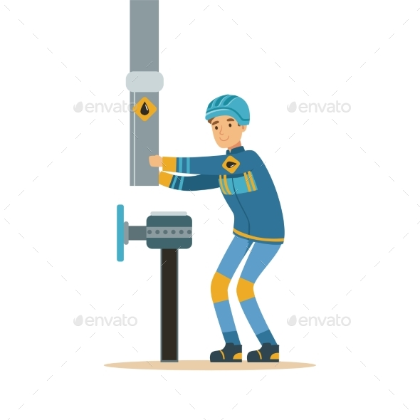 GraphicRiver Builder Worker Fixing and Joining Industrial Oil 20492506