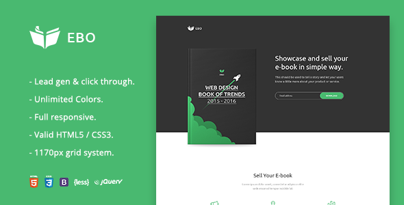 ThemeForest Ebo Ebook Landing Page HTML Template 20367567
