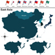 Political Map of East Asia - GraphicRiver Item for Sale