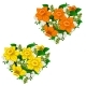 Yellow and Orange Bouquet of Flowers Heart Shape