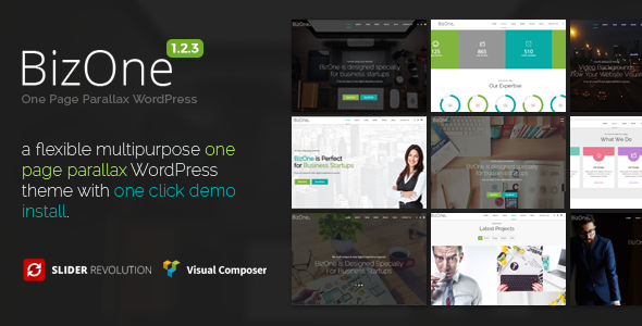 BizOne - One Page WordPress