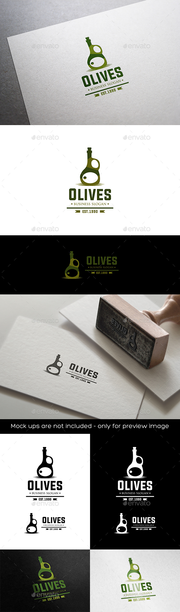 Olives Oil - Objects Logo Templates