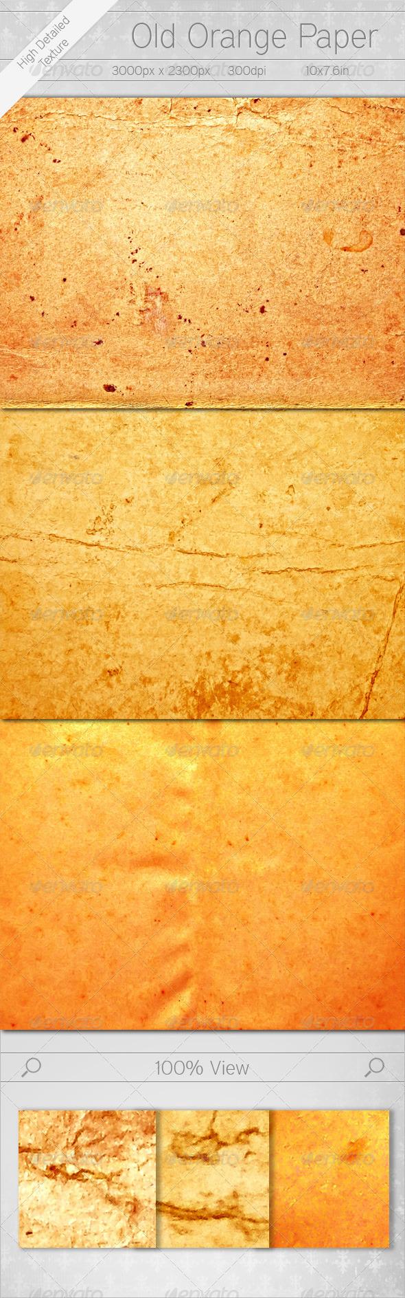 Old Orange Paper - Paper Textures
