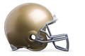 Gold Football Helmet Isolated on White Background