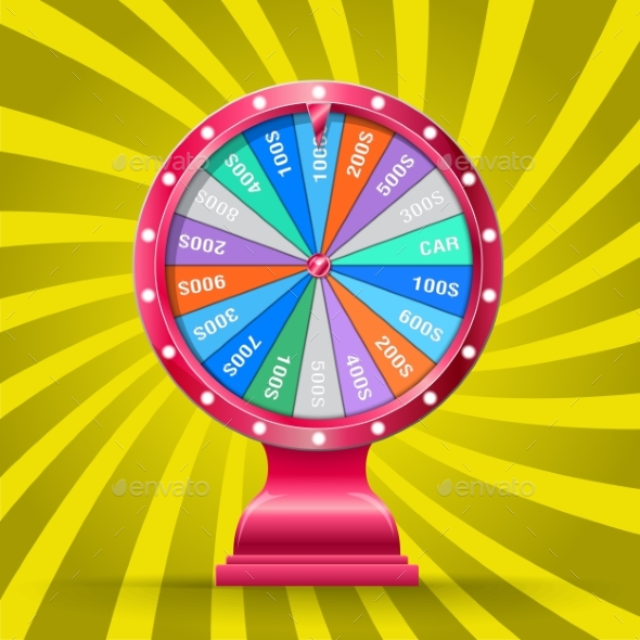 GraphicRiver Wheel of Fortune Isolated 20493360