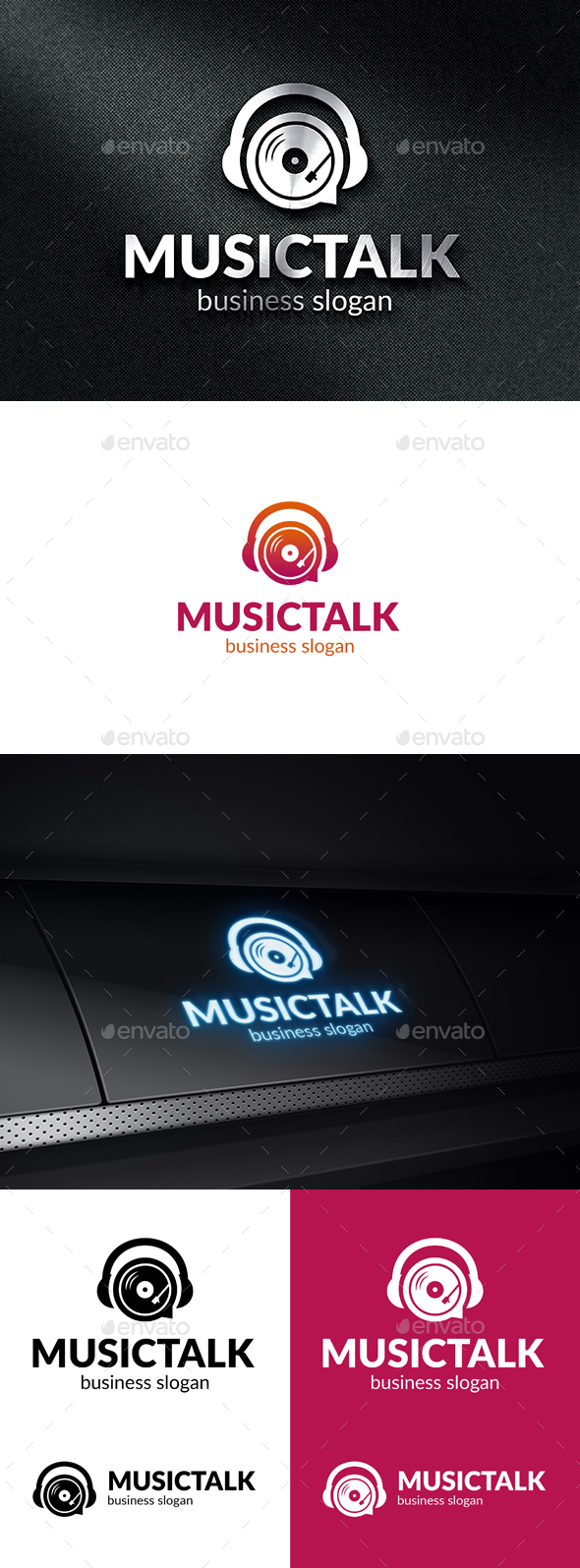 Music Talk Logo Template - Symbols Logo Templates
