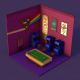 Isometric arcade room