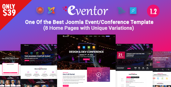 Eventor - Conference & Event Joomla Template