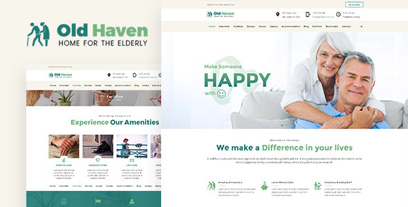 Old Haven | Theme for Old Age Home - Miscellaneous eCommerce