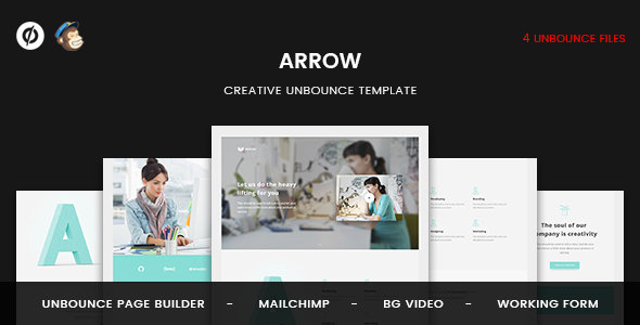 Arrow | Creative Unbounce Landing Page