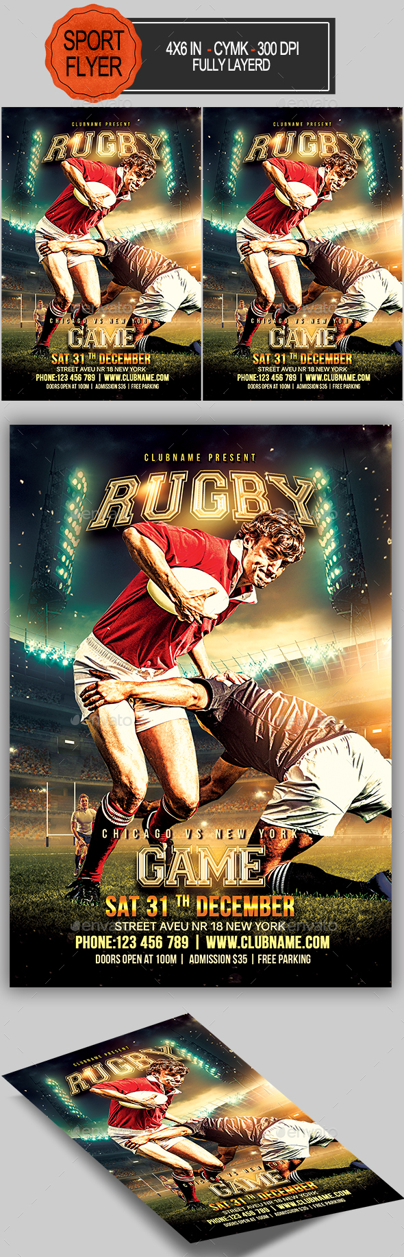 GraphicRiver Rugby Flyer 20494003