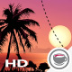 Travel & Tourism Tropical Sunset Background