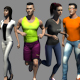 Lowpoly people Animated - 3DOcean Item for Sale