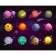 Fantasy Colorful Planets Set