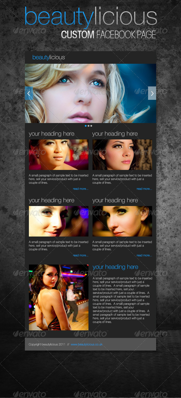 Simple Beautylicious Facebook Page - Social Media Web Elements