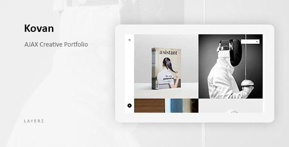 Kovan - Ajax-Based Minimal Portfolio Template - Creative Site Templates