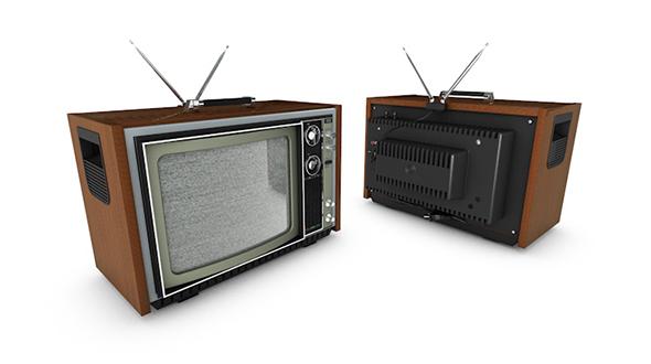 retro tv set 3d model - 3DOcean Item for Sale