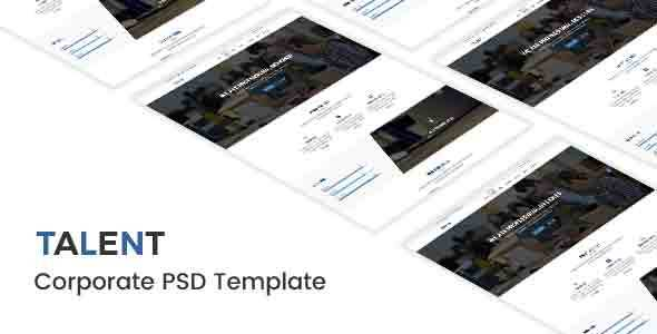 Talent - Corporate PSD Template