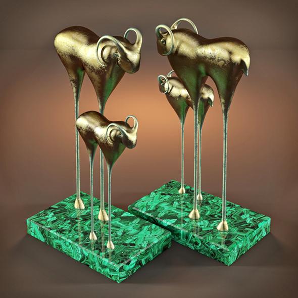 BUFFALO statuette - 3DOcean Item for Sale
