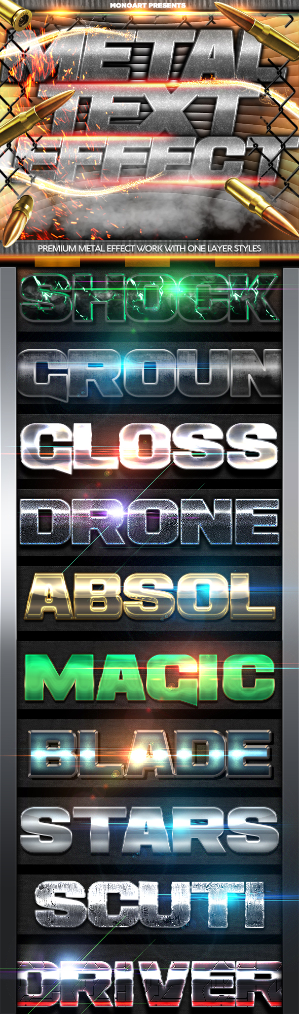 Futuristic Metal Text Effect