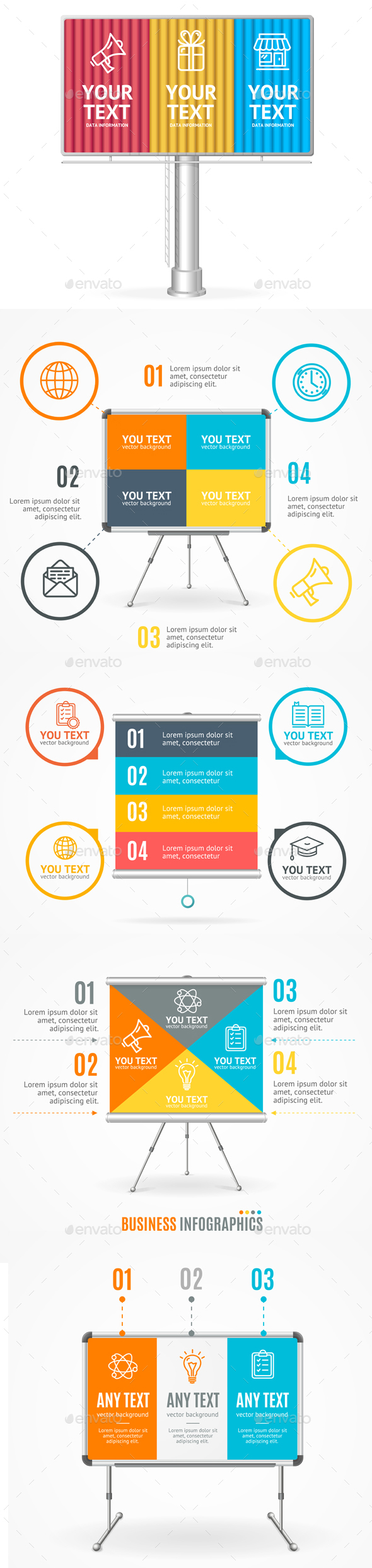 Concept of Business Infographic Option Banner Card - Concepts Business