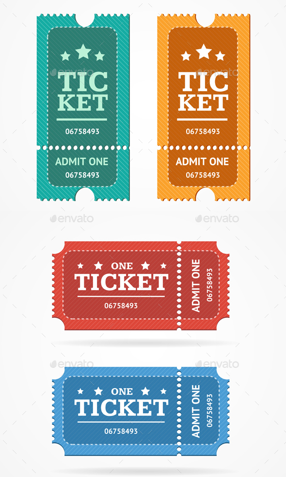 GraphicRiver Ticket Icon Blank Admit Set Retro Old Style 20494559