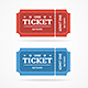 Ticket Icon Blank Admit Set Retro Old Style - GraphicRiver Item for Sale